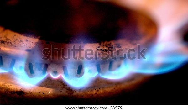 a close up of my stove