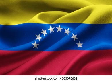 Close up of the national flag of Venezuela