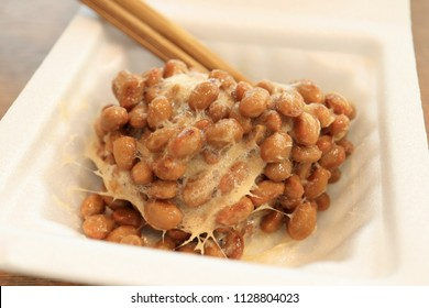 Close up the Natto, Japanese Fermented soy bean Food