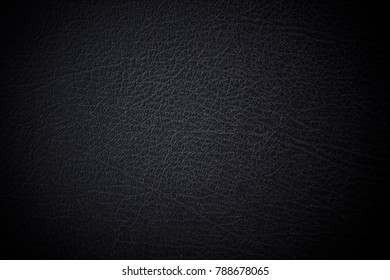 Close up natural black leather abstract background texture