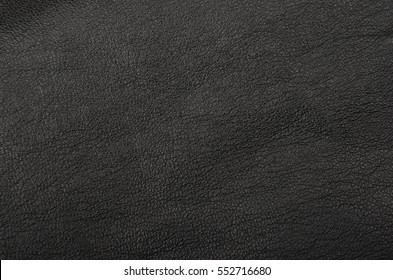 Close up of natural black leather background