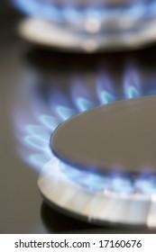 Close Up Of A Natural Gas Stove