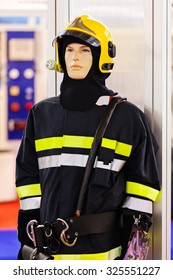 close up of new  fire fighting equipment on a doll