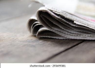 close up newspaper