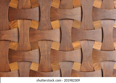 Close up nice shape of wooden, home wall decoration