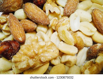 close up nuts background