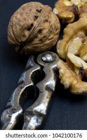 Close Up of Nuts and Nut Crackers