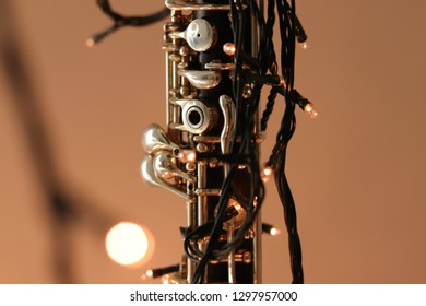 Close up of an oboe
