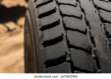 Close Up of Off-Road Tire Tread