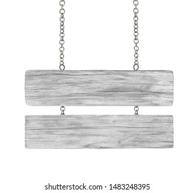 Close up of Ola wooden sign with chain on white background with cipping path