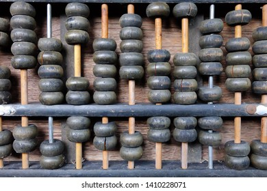 Close up Old Abacus checkers
