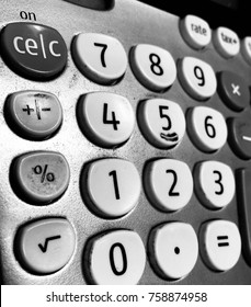Close Up Old Calculator
