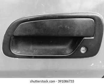 close up of old classic  handle car