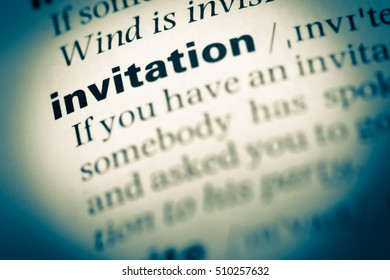 Definition Of Invitation Letter Stock Images RoyaltyFree Images
