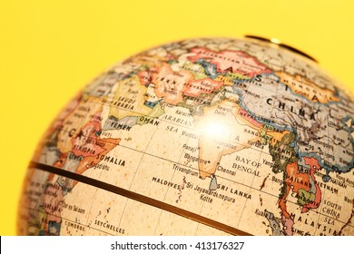 Close up of a Old Globe