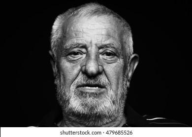 Close up of an old man