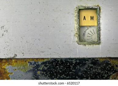 close up of old am radio