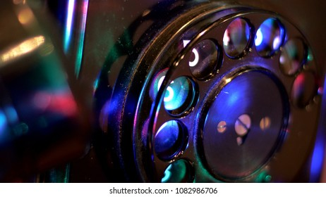 Close Up Of Old Rotary Phone
