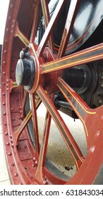 close up of old wheel
