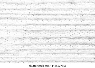 Close up of old white brick wall surface texture background