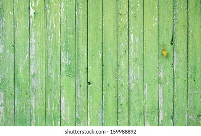 Close up of an old wooden fence panels