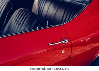 close up of an Oldtimer Car