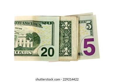CLose up on 2015 written with dollars isolated on white background