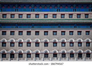 Close up on Arror Tower also called Jian Lou in Dongcheng District in Beijing, China