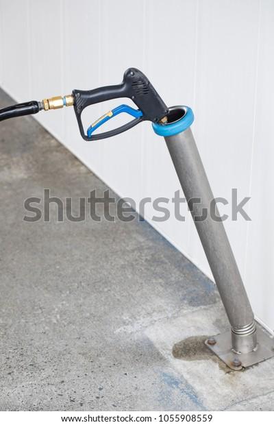 Close On Black Pressure Washer Spray Stock Photo (Edit Now
