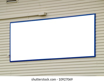 A close up on a blank sign.