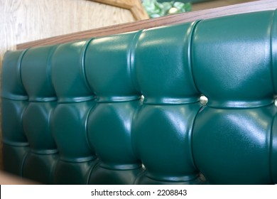 Close up on the cushions of a Fast Food Restaurant