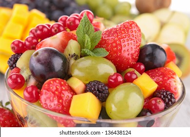 close up on fruit salad