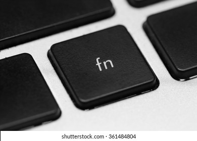 close up on function button on the keyboard