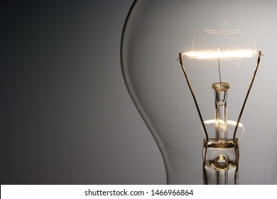 close up on light bulb