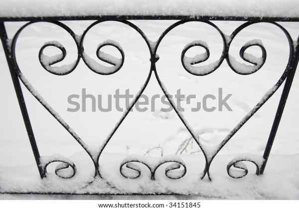 Close On Love Hearts Chelsea Fence Stock Photo Edit Now 34151845