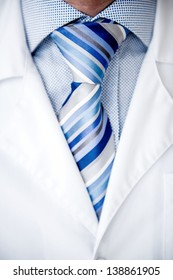 Close up on a male doctor wearing tie