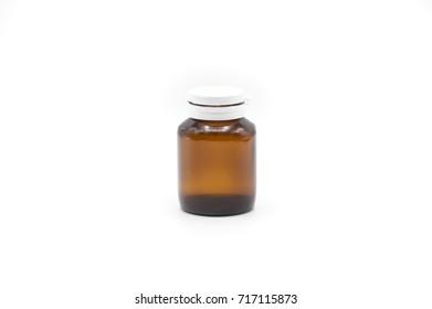 Close up on a medicine bottle