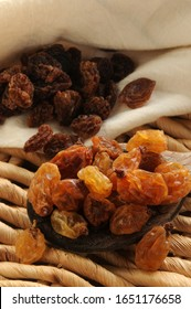 Close up on mixed sultanas