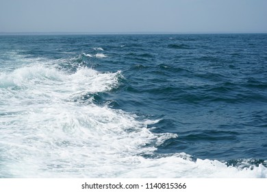 close up on ocean wave