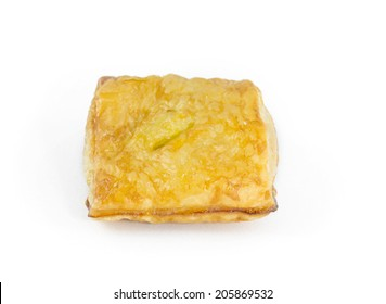 Close up on a pie on white isolate background