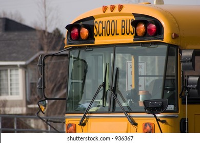 Close up on a School Bus