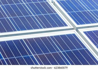 close up on solar panel