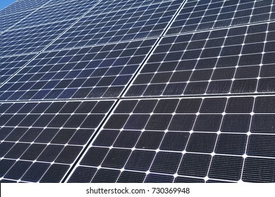 close up on solar panel, for design background