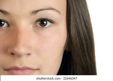 Close up on a Teenager Girl - Isolated