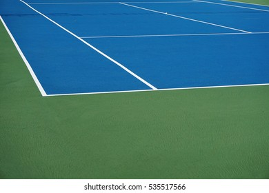 close up on tennis court