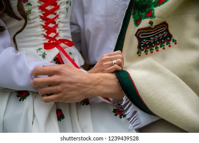 close up on the traditions of highlander clothing, male and female, love