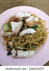 Close up on Tuaran Fried Mee. Famous food of Tuaran,Sabah.
