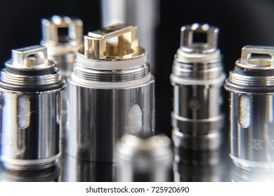 Close up on vaporizer coils