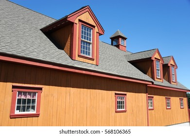 close up on wooden farm house