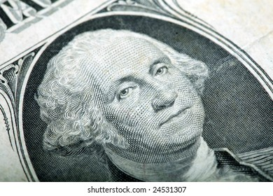 Close up of one american dollar